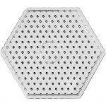Perleplade, str. 17 cm, transparent, JUMBO - hexagon, 1stk.