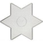 Perleplade, str. 15x15 cm, transparent, stor stjerne, 1stk.