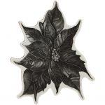 Gummistempel, str. 14x11 cm, H: 5 , julestjerne, 1ark
